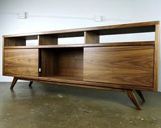 Mcm Handmade TV Console MidCentury Modern Handmade Media   Etsy Tv Console Modern, Modern Tv, Midcentury Modern, Console Tv, Tv Stand Minimalist, Tv Stand Cabinet, Wooden Tv Stands, Wood Furniture, Console Furniture