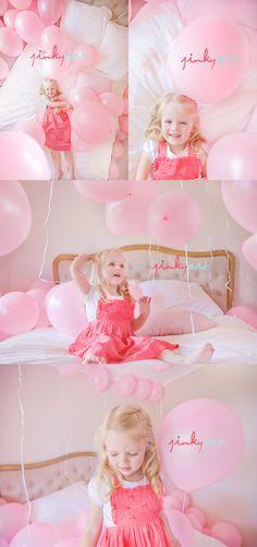 pink balloons+cute little girl+Jinky=brilliant