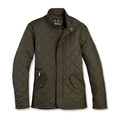 Men's Barbour® Flyweight Chelsea Quilted Jacket in olive