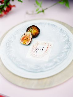 hand painted calligraphy place card