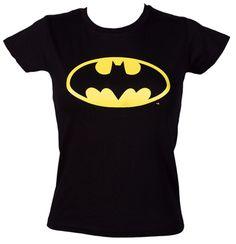Ladies Classic Batman Logo T-Shirt