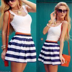 Femmes robe Summer Fashion robes de festa New rayé Patchwork manches réservoir et gilet robes Casual o - cou , Plus la taille JY004