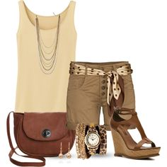 """""""Summer Neutrals"""" by lgb321 on Polyvore"""