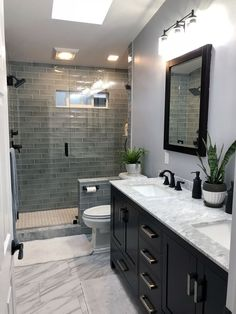 """Browse photos of Small Master Bathroom Tile Design. Find suggestions and inspiration for Small Bathroom Tile Design to add to your own house. Bathroom Tile Designs, Bathroom Design Small, Bathroom Trends, Bath Design, Shower Designs, Toilet Design, Vanity Design, Small Master Bathroom Ideas, Sink Design"