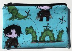 Edward Scissorhands Zipper Pouch: Scissors, T-Rex.