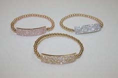 pulsera de barra gruesa  plata y chapa de oro  muy elegantes.