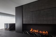 Beautiful fire place by Belgian company Bosman Haarden. Photo by Cafeine/Thomas de Bruyne.