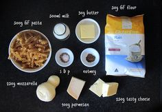 gluten free macaroni and cheese ingredients
