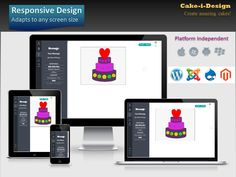 Cake-i-Design is responsive! Adapts to all screen-sizes!