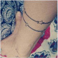 bracelet tattoo, would love this with theword LOVE one with crosses and daughters name..