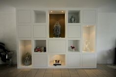 Bekijk de foto van MELKAInterieurbouw met als titel Wandkast op maat. kan evt een tv ingebouwd worden of als boekenkast. Deze kast is gemaakt door MELKA Interieurbouw en andere inspirerende plaatjes op Welke.nl.