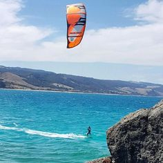 Hot weather = beach weather!  This kite boarder in Apollo Bay has the right idea! by pointofview_apollobay http://ift.tt/1LQi8GE