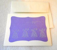 Wedding bells wedding card white bells on by DawnFrostDesigns, $2.00