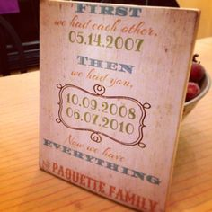 Family established sign #handmade#family.. Will be doing this.