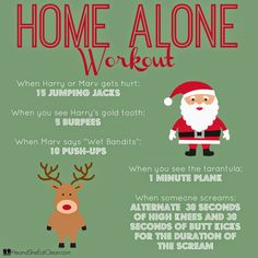 Home Alone Workout You will never watch Home Alone the say way again! Incorporate this workout into your movie night - get the kids to join in too! Netflix Workout, Tv Show Workouts, Fun Workouts, At Home Workouts, Disney Workout, Disney Movie Workouts, Volleyball Workouts, Body Workouts, Home Alone Movie