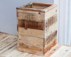 Large Wooden Bin - Rustic Wood Box