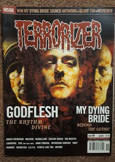 Terrorizer Mag #94 Nov 01 Godflesh My Dying Bride Bruce Dickinson Kreator