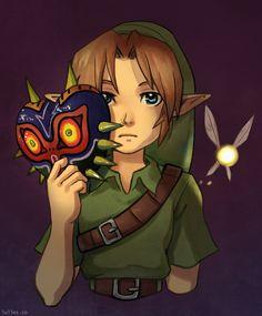 Link with Majora's Mask and Tatl fan art Legend, Zelda Art, Artist, Deviantart, Graphic Novel, Elf Man, Anime, Digital Artist, Fan Art