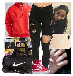 """""""Untitled #783"""" by msixo ❤ liked on Polyvore featuring NIKE, Champion and Vans"""