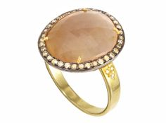 Honey Sapphire and Diamond Ring | Didi Jewellery