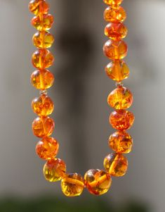 Vintage Baltic honey amber necklace Traditional Baltic amber jewelry