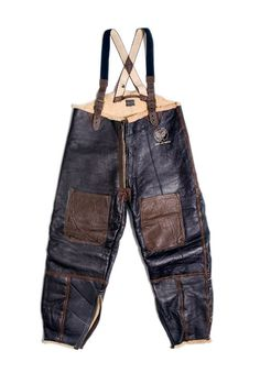 Leather flying pant.