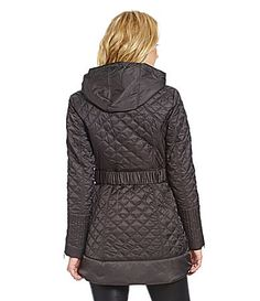 Laundry by Shelli Segal Belted Quilted Hooded Anorak #Dillards