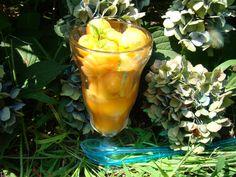 Cantaloup Melon  With Mint Syrup