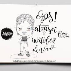 Sorry, I'm late #Inktober2016 #inktober #day19 #ink #drawing #draw #lettering #cute #crazy #creativity #inspiration #wanderlust #instalettering #art #instaart #illustration #chibi #mangá