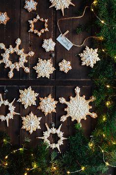 Snowflake Sugar Cookies | Hint of Vanilla | Skylar loves making these and makes them beautifully