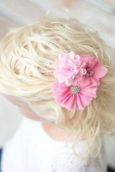 Light Pink ballerina flower clip - La Bella Rose Boutique. Great prices too! Need these for my girls Easter baskets.