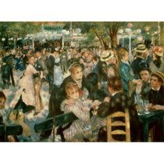 Ball at the Moulin de la Galette Montmartre 1876 Pierre-Auguste Renoir (1841-1919French) Oil on canvas Musee dOrsay Paris Canvas Art - (18 x 24)