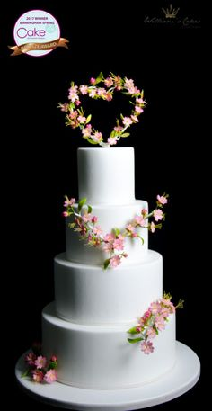 blossom wedding cake by manoha - http://cakesdecor.com/cakes/274430-blossom-wedding-cake