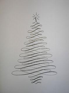 22 Handmade Calligraphy Christmas Cards   DIY Christmas Cards ...