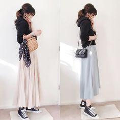 Korea Fashion, Japan Fashion, Fashion 2018, Daily Fashion, Spring Fashion, Fashion Beauty, Autumn Fashion, Fashion Looks, Skirt Fashion