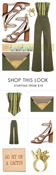 """""""Go sit on a cactus"""" by cherieaustin ❤ liked on Polyvore featuring Água de Coco, Dareen Hakim, Lela Rose, Mulberry, mulberry, LelaRose, dareenhakim and Aguadecoco"""