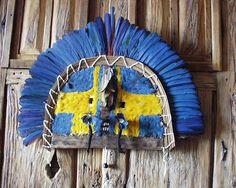 Amazon Native Indian Headdress & Mask 3