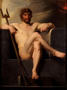 "artqueer: "" Heinrich Friedrich Fuger: Poseidon Enthroned, late or early century "" Heinrich Friedrich Fuger: Poseidon Enthroned, late or early century William Turner, Roman Mythology, Greek Mythology, Poseidon, Albrecht Dürer, Oil Canvas, Art Of Man, Classic Paintings, Male Figure"