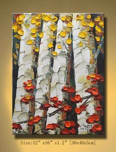 Original Abstract Painting, Modern Textured Painting,  Palette Knife, Home Decor, Painting Oil on Canvas  by Chen 0125. $95.00, via Etsy.
