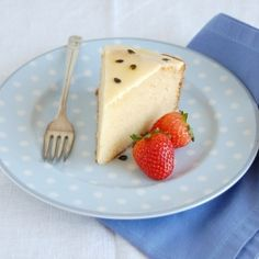 White chocolate cake with passion fruit icing
