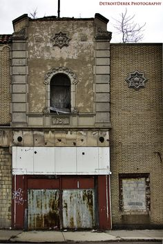 The entrance to the Grande Ballroom in Detroit.