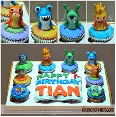 tian's slugterra cupcake