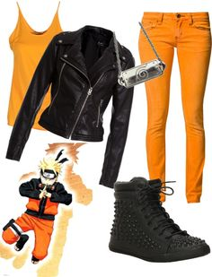 """""""Otaku's wardrobe - Naruto"""" by mello-on-the-gallows ❤ liked on Polyvore Anime Inspired Outfits, Character Inspired Outfits, Themed Outfits, Casual Cosplay, Cosplay Outfits, Anime Outfits, Outfits For Teens, Cool Outfits, Casual Outfits"""