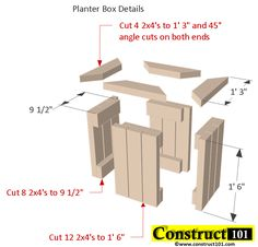 Planter Bench Plans Built With 2X4 S Free Pdf Planter 640 x 480