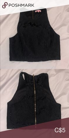 solid black with lace overlay super cute! re:named Tops Crop Tops Black Lace Tank Top, Plus Fashion, Fashion Tips, Fashion Trends, Crop Tops, Tank Tops, Lace Overlay, Solid Black, Top Colour