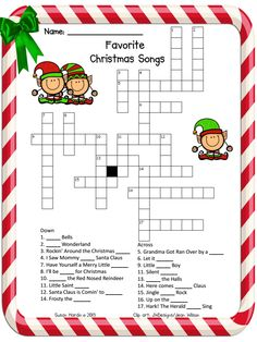 3rd Grade Grapevine: Another December Freebie: Favorite Christmas Songs