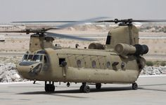US Army Boeing CH-47F Chinook.