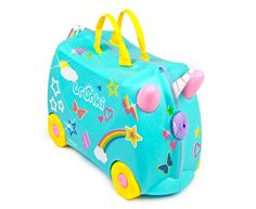 Trunki Kids' Una Unicorn Carriage Ride-On Luggage/Suitcase - Aqua Hand Luggage Size, Luggage Sizes, Baby Dolls For Kids, Minnie Mouse Toys, Baby Doll Nursery, Rainy Day Fun, 9th Birthday, Kid Beds, Toy Store