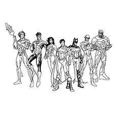 coloring pages and justice league - photo#26