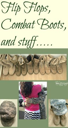 35fe80b7961321 I love flip-flops. My husband usually is in combat boots as a Soldier